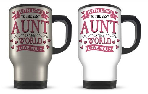 With Love To The Best Relative In The World Aluminium Travel Mug